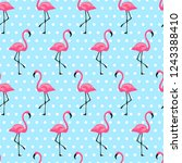 Pattern With Flamingo. Design...
