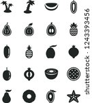 solid black vector icon set   a ... | Shutterstock .eps vector #1243393456