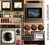 Control Panel Of A Vintage...