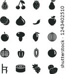 solid black vector icon set   a ... | Shutterstock .eps vector #1243402510