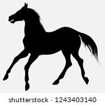 black vector silhouette of... | Shutterstock .eps vector #1243403140