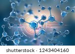abstract molecule model.... | Shutterstock . vector #1243404160