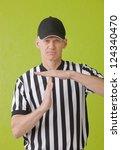 football umpire against green...   Shutterstock . vector #124340470