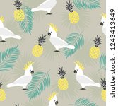 seamless summer pattern with... | Shutterstock .eps vector #1243413649