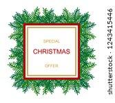 christmas sale banner template. ... | Shutterstock .eps vector #1243415446