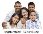 happy attractive hispanic... | Shutterstock . vector #124341820
