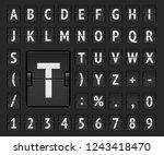 airport flip mechanical board... | Shutterstock .eps vector #1243418470