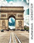 arc de triomphe  paris. triumph ...   Shutterstock . vector #1243437229
