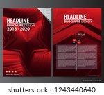 abstract vector modern flyers... | Shutterstock .eps vector #1243440640