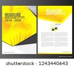 abstract yellow vector modern... | Shutterstock .eps vector #1243440643
