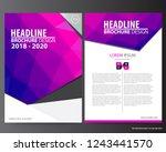 abstract vector modern flyers... | Shutterstock .eps vector #1243441570