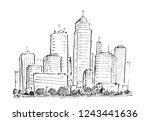 black brush and ink artistic...   Shutterstock . vector #1243441636