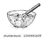 black pen and ink artistic...   Shutterstock . vector #1243441639