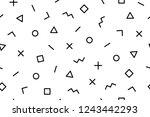 pattern. seamless memphis...   Shutterstock . vector #1243442293