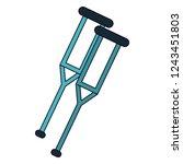 handicap crutches symbol   Shutterstock .eps vector #1243451803