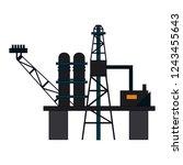 fuel pump refinery | Shutterstock .eps vector #1243455643