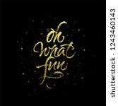 oh what fun quote. christmas... | Shutterstock .eps vector #1243460143