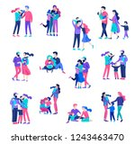 family spend time together ... | Shutterstock .eps vector #1243463470