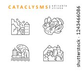 cataclysms and natural... | Shutterstock .eps vector #1243466086