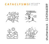 cataclysms and natural... | Shutterstock .eps vector #1243466089