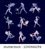 collection of people carrying... | Shutterstock .eps vector #1243466296