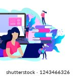 concept landing page template... | Shutterstock .eps vector #1243466326
