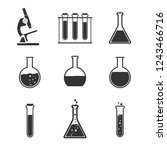 laboratory icon set. vector... | Shutterstock .eps vector #1243466716