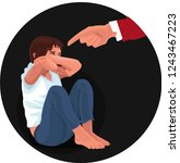domestic   family violence.... | Shutterstock .eps vector #1243467223
