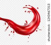 red juice realistic splash....   Shutterstock .eps vector #1243467313