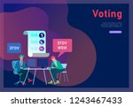 voting and election concept.... | Shutterstock .eps vector #1243467433