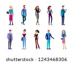 detailed character students ... | Shutterstock .eps vector #1243468306