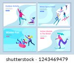 set of landing page templates.... | Shutterstock .eps vector #1243469479