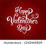 hand drawn elegant modern brush ... | Shutterstock .eps vector #1243469839