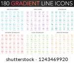 180 trendy gradient vector thin ... | Shutterstock .eps vector #1243469920