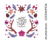 merry christmas  happy new year ... | Shutterstock .eps vector #1243469926