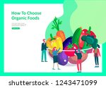 landing page templates with... | Shutterstock .eps vector #1243471099