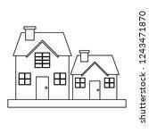 houses residence buildings...   Shutterstock .eps vector #1243471870