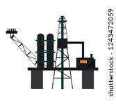 fuel pump refinery | Shutterstock .eps vector #1243472059