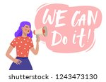 vector illustration with hand... | Shutterstock .eps vector #1243473130