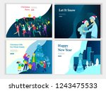 set of landing page template or ... | Shutterstock .eps vector #1243475533