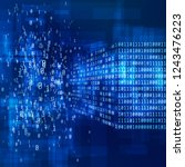 binary code. big data concept.... | Shutterstock .eps vector #1243476223