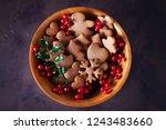 gingerbread cookies for...   Shutterstock . vector #1243483660