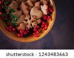 gingerbread cookies for...   Shutterstock . vector #1243483663