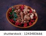 gingerbread cookies for...   Shutterstock . vector #1243483666
