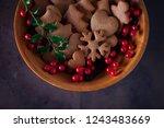gingerbread cookies for...   Shutterstock . vector #1243483669