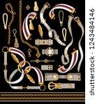 set of the belt elements ... | Shutterstock .eps vector #1243484146