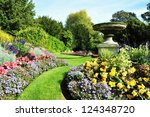 Flowerbeds In A Peaceful Forma...