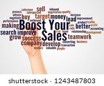 boost your sales word cloud and ...   Shutterstock . vector #1243487803