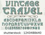 vintage font handcrafted vector ...   Shutterstock .eps vector #1243488640