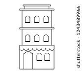 residence building isolated...   Shutterstock .eps vector #1243489966